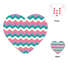 Chevron Pattern Colorful Art Playing Cards (heart)