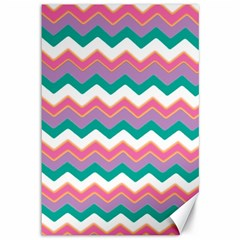 Chevron Pattern Colorful Art Canvas 12  X 18