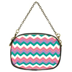Chevron Pattern Colorful Art Chain Purses (two Sides)