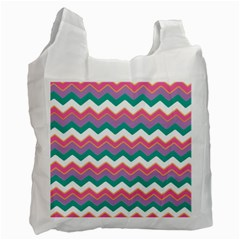 Chevron Pattern Colorful Art Recycle Bag (one Side)