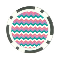 Chevron Pattern Colorful Art Poker Chip Card Guard (10 Pack)