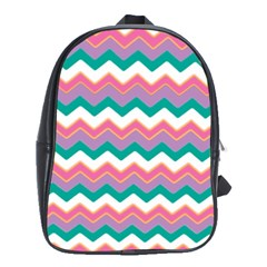 Chevron Pattern Colorful Art School Bags(large)