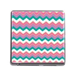 Chevron Pattern Colorful Art Memory Card Reader (square)
