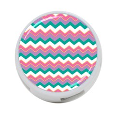 Chevron Pattern Colorful Art 4 Port Usb Hub (one Side)