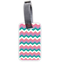 Chevron Pattern Colorful Art Luggage Tags (two Sides)