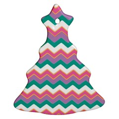 Chevron Pattern Colorful Art Christmas Tree Ornament (two Sides)
