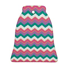 Chevron Pattern Colorful Art Bell Ornament (two Sides)