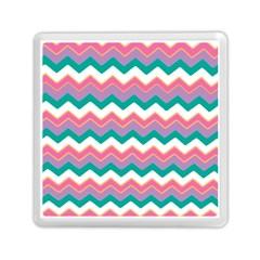 Chevron Pattern Colorful Art Memory Card Reader (square)