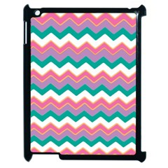 Chevron Pattern Colorful Art Apple Ipad 2 Case (black)