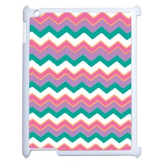 Chevron Pattern Colorful Art Apple Ipad 2 Case (white)