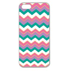 Chevron Pattern Colorful Art Apple Seamless Iphone 5 Case (clear)