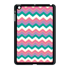 Chevron Pattern Colorful Art Apple Ipad Mini Case (black)