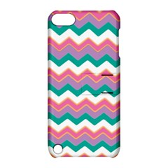 Chevron Pattern Colorful Art Apple Ipod Touch 5 Hardshell Case With Stand