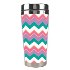 Chevron Pattern Colorful Art Stainless Steel Travel Tumblers