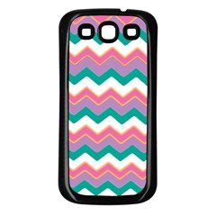 Chevron Pattern Colorful Art Samsung Galaxy S3 Back Case (black)