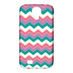 Chevron Pattern Colorful Art Samsung Galaxy S4 Classic Hardshell Case (pc+silicone)