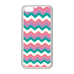 Chevron Pattern Colorful Art Apple Iphone 5c Seamless Case (white)