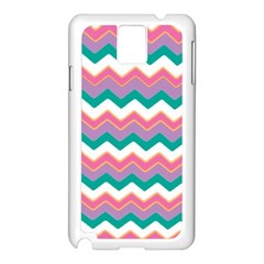 Chevron Pattern Colorful Art Samsung Galaxy Note 3 N9005 Case (white)