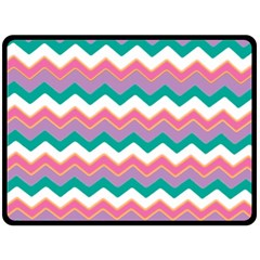 Chevron Pattern Colorful Art Double Sided Fleece Blanket (large)