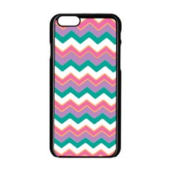 Chevron Pattern Colorful Art Apple Iphone 6/6s Black Enamel Case