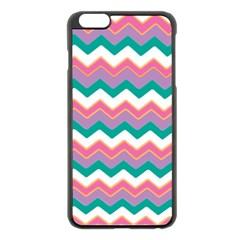 Chevron Pattern Colorful Art Apple iPhone 6 Plus/6S Plus Black Enamel Case