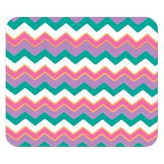 Chevron Pattern Colorful Art Double Sided Flano Blanket (small)