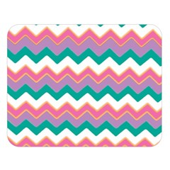 Chevron Pattern Colorful Art Double Sided Flano Blanket (large)