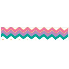 Chevron Pattern Colorful Art Flano Scarf (large)