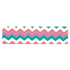 Chevron Pattern Colorful Art Satin Scarf (oblong)