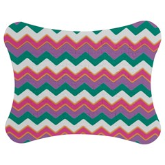 Chevron Pattern Colorful Art Jigsaw Puzzle Photo Stand (Bow)