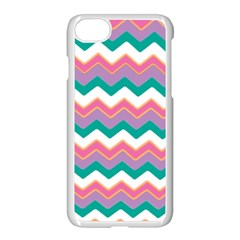 Chevron Pattern Colorful Art Apple Iphone 7 Seamless Case (white)