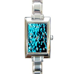 Bokeh Background In Blue Color Rectangle Italian Charm Watch