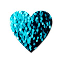 Bokeh Background In Blue Color Heart Magnet