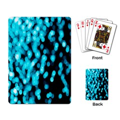 Bokeh Background In Blue Color Playing Card