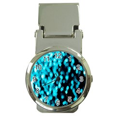 Bokeh Background In Blue Color Money Clip Watches