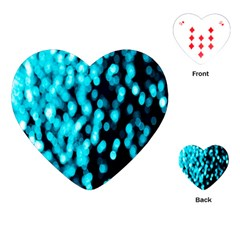 Bokeh Background In Blue Color Playing Cards (heart)