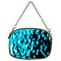Bokeh Background In Blue Color Chain Purses (two Sides)