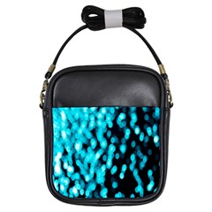 Bokeh Background In Blue Color Girls Sling Bags