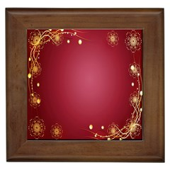 Red Background With A Pattern Framed Tiles
