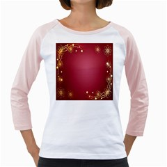 Red Background With A Pattern Girly Raglans