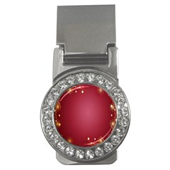 Red Background With A Pattern Money Clips (cz)