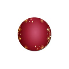 Red Background With A Pattern Golf Ball Marker (10 Pack)