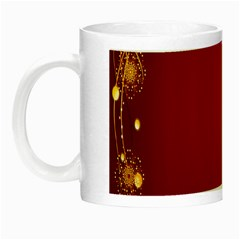 Red Background With A Pattern Night Luminous Mugs