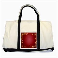 Red Background With A Pattern Two Tone Tote Bag