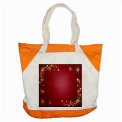 Red Background With A Pattern Accent Tote Bag
