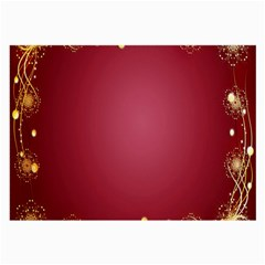 Red Background With A Pattern Large Glasses Cloth (2 Side)