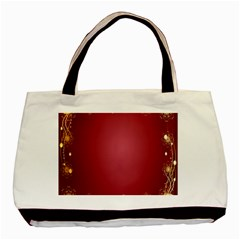 Red Background With A Pattern Basic Tote Bag (Two Sides)