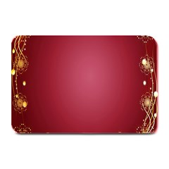 Red Background With A Pattern Plate Mats