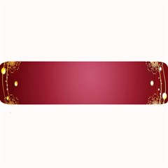 Red Background With A Pattern Large Bar Mats