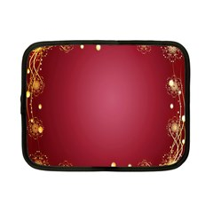 Red Background With A Pattern Netbook Case (small)
